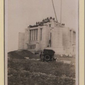 Cardston Temple under construction in the early 20th century