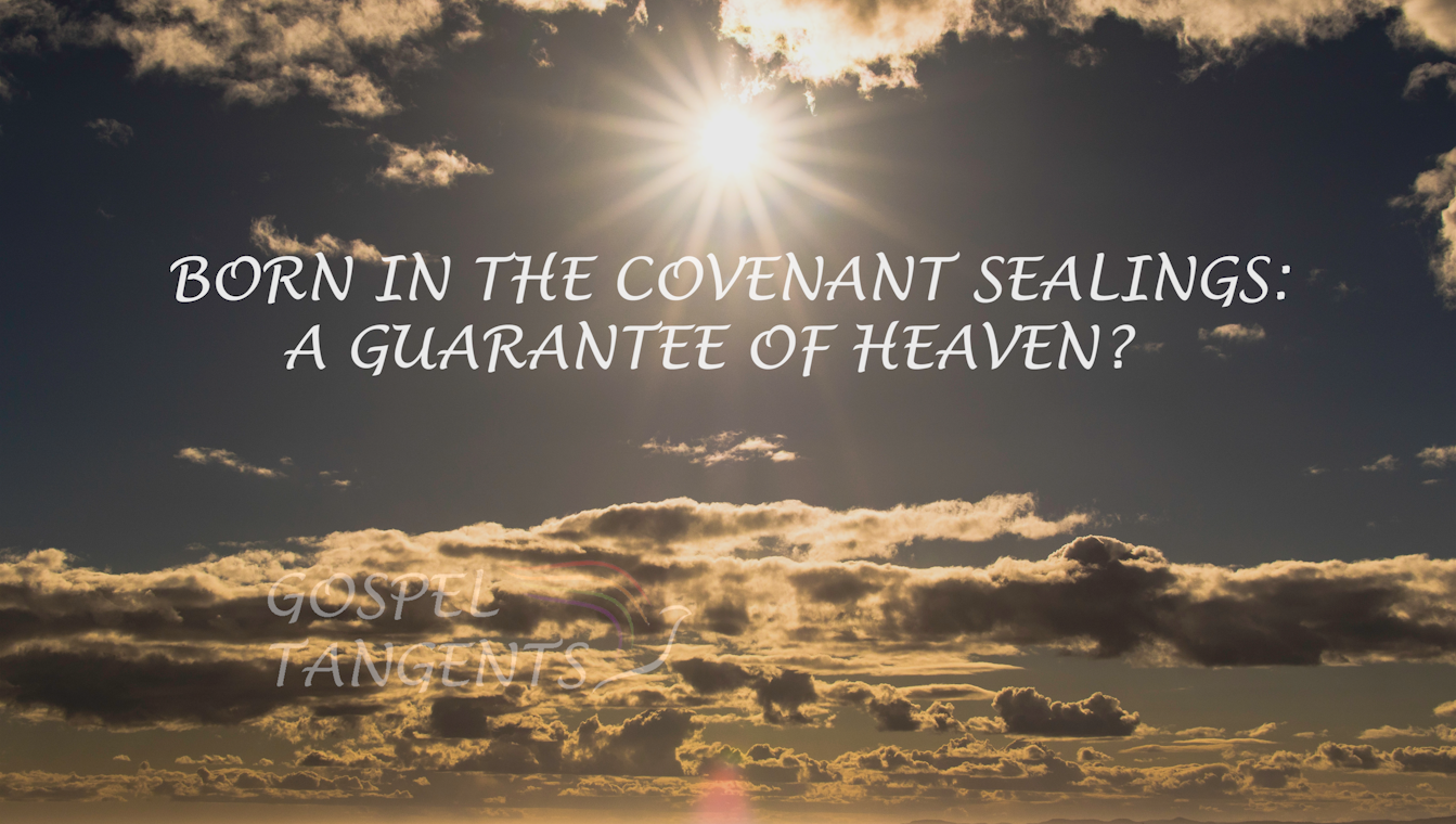 Dr. Stapley discusses child to parent sealings, like born in the covenant. Does this guarantee a child in heaven?