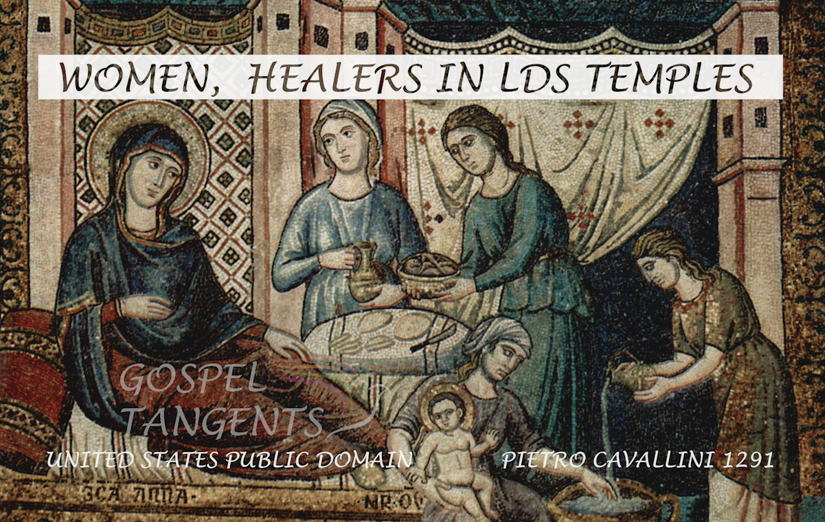 Early Mormon women anointed with oil and laid hands on the sick to heal.