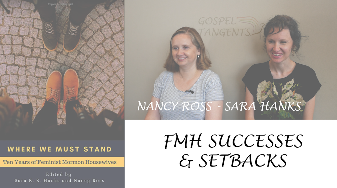 "Co-authors Sara Hanks, and Dr. Nancy Ross discuss their book ""Where We Must Stand:  Ten Years of Feminist Mormon Housewives."""