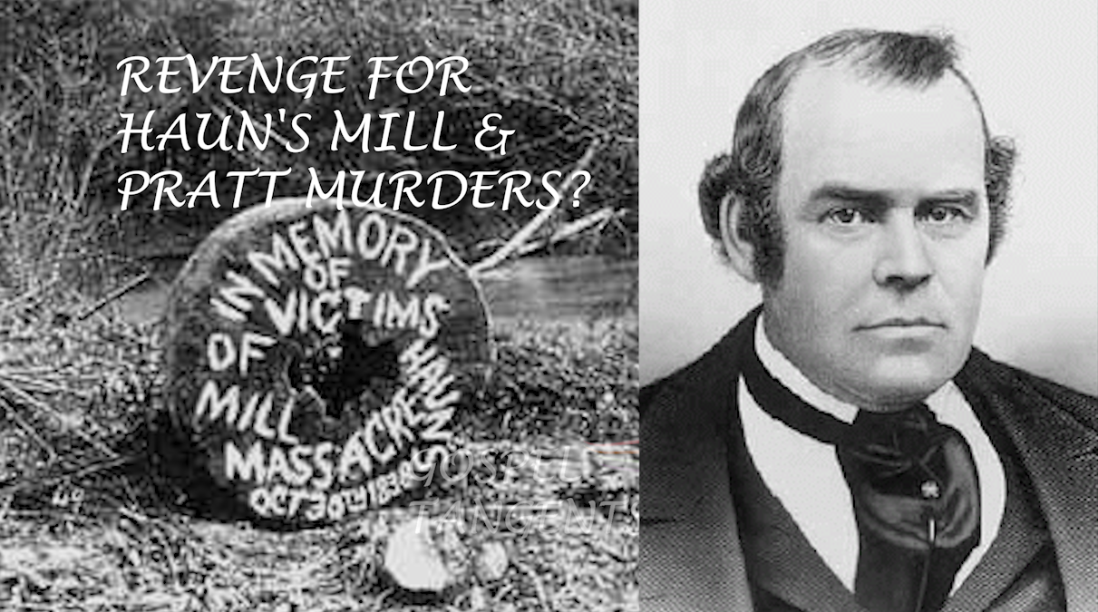 Barbara Jones Brown disputes the idea that Mountain Meadows was revenge for Haun's Mill or Parley Pratt's murder.