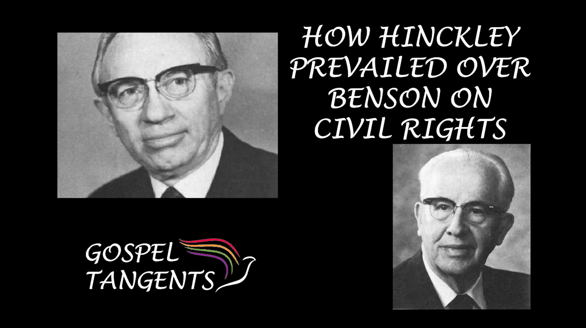 Gordon B. Hinckley made outreach to the NAACP and helped undo the harm of President Benson's race relations.