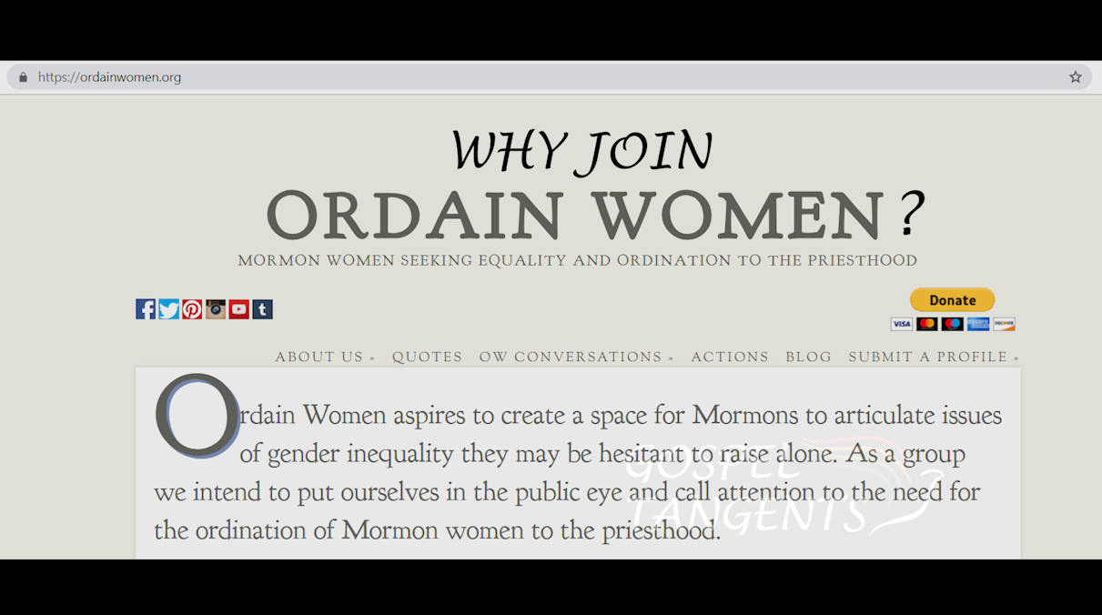 Bryndis Roberts explains how she got involved in Ordain Women.